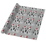 Christmas Boston Terrier puppies Gift Wrap Paper