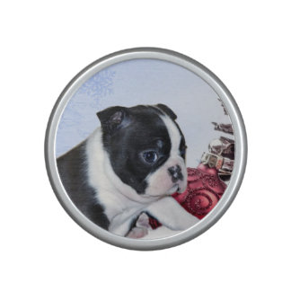 Christmas Boston Terrier Puppy Bluetooth Speaker