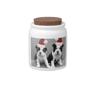 Christmas Boston terriers Candy Jars