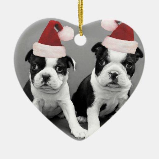 Christmas Boston terriers Christmas Ornaments