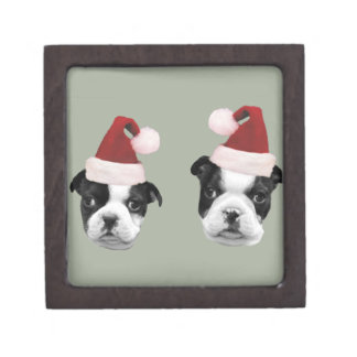 Christmas Boston Terriers Gift Box