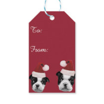 Christmas Boston Terriers Gift Tags