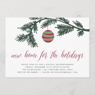 Christmas Boughs | Housewarming Party Invitation