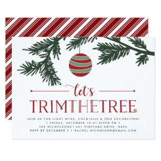 Christmas Boughs | Tree Trimming Party Invitation