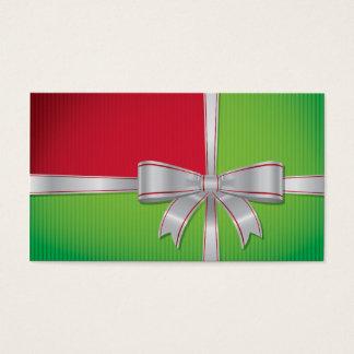 Christmas bow business card