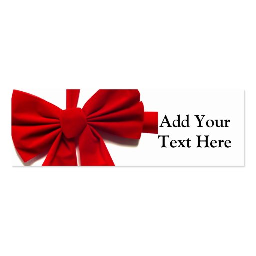 Christmas Bow Double-Sided Mini Business Cards (Pack Of 20)