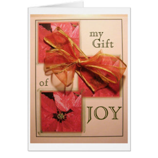 Christmas Bow Joy Stationery Note Card