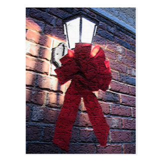 Christmas Bow Lantern Postcards