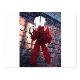 Christmas Bow Lantern Postcard