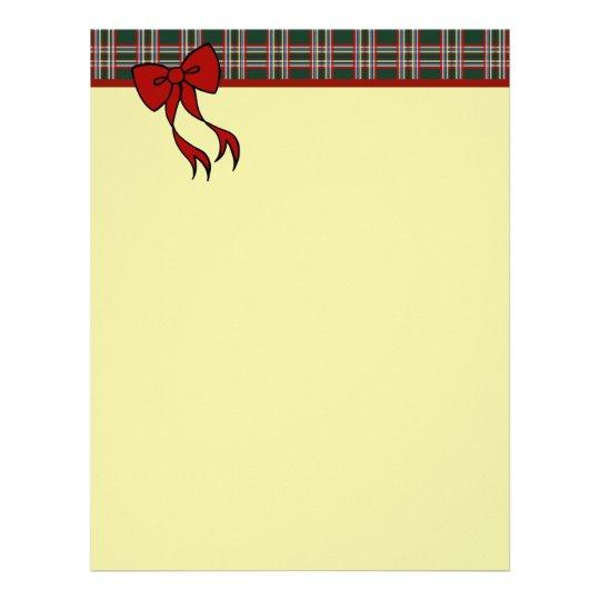 Christmas Bow Letterhead