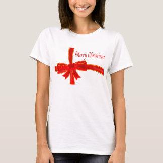 Christmas Bow 'T' Shirt. T-Shirt