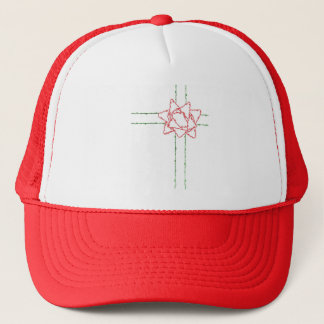 CHRISTMAS BOW TRUCKER HAT