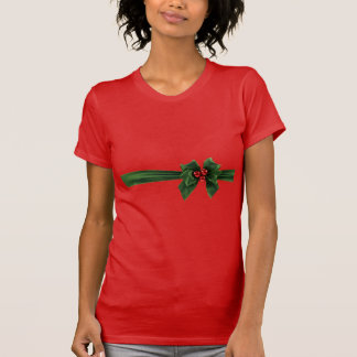 Christmas bow with striped background T-Shirt