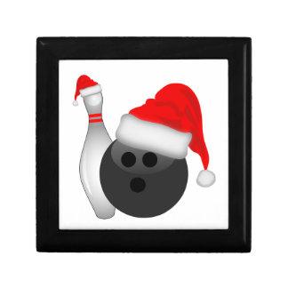 Christmas Bowling Ball and Pin Jewelry Box