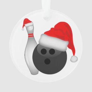Christmas Bowling Ball and Pin Ornament