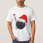 Christmas Bowling Ball and Pin T Shirt