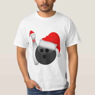 Christmas Bowling Ball and Pin T-Shirt