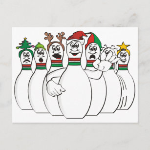 bowling christmas cards zazzle