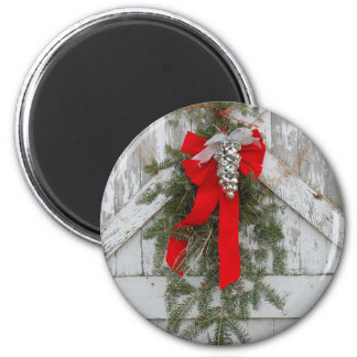 Christmas Bows and Bells 2 Inch Round Magnet