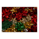 Christmas Bows Colorful Festive Holiday Card