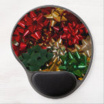 Christmas Bows Colorful Festive Holiday Gel Mouse Pad