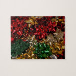 Christmas Bows Colorful Festive Holiday Jigsaw Puzzle