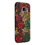 Christmas Bows Colorful Festive Holiday Samsung Galaxy S6 Case