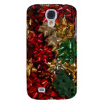 Christmas Bows Colorful Festive Holiday Samsung S4 Case