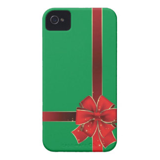 Christmas Bows Green iPhone 4 Cover