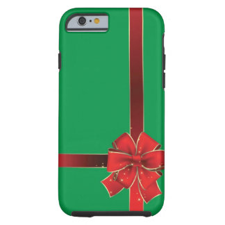 Christmas Bows Green iPhone 6 Case