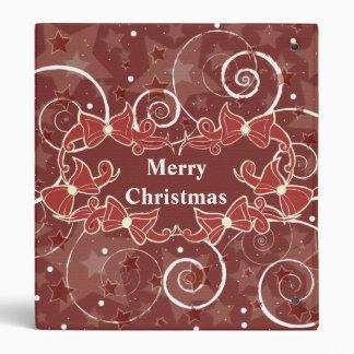 Christmas Bows Greetings 3 Ring Binder