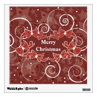 Christmas Bows Greetings Wall Decal