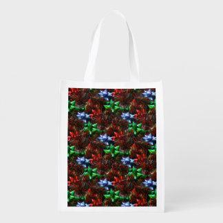 Christmas Bows Reusable Grocery Bag