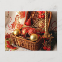 Christmas box - Christmas decorations Holiday Postcard