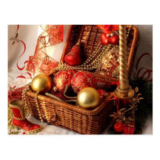Christmas box - Christmas decorations Postcard