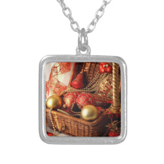 Christmas box - Christmas decorations Silver Plated Necklace