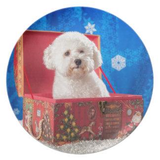 Christmas box plate