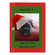 Christmas Boxer Card at Zazzle