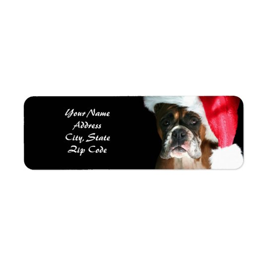 Christmas Boxer Dog Address Labels