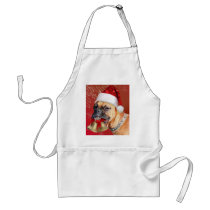 Christmas Boxer dog Adult Apron