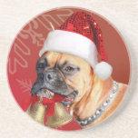 Christmas Boxer dog Coasters