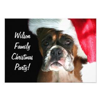 Christmas Boxer Dog Custom Invitations