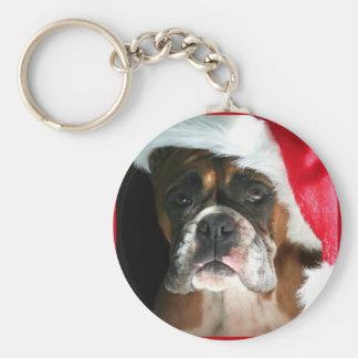 Christmas Boxer Dog keychain
