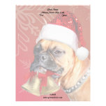 Christmas Boxer dog Letterhead Template