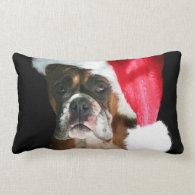 Christmas Boxer Dog Pillows