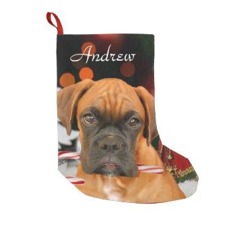 Christmas Boxer dog stocking