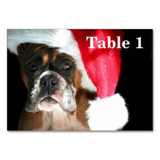 Christmas Boxer Dog Table Cards