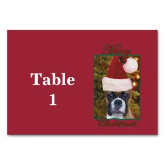 Christmas Boxer dog Table Card