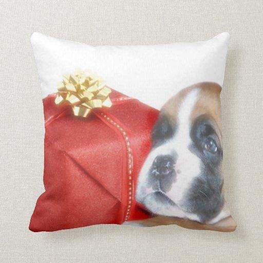 Christmas Boxer Dog throw pillow Zazzle