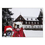 Christmas Boxer Dogs greeting card